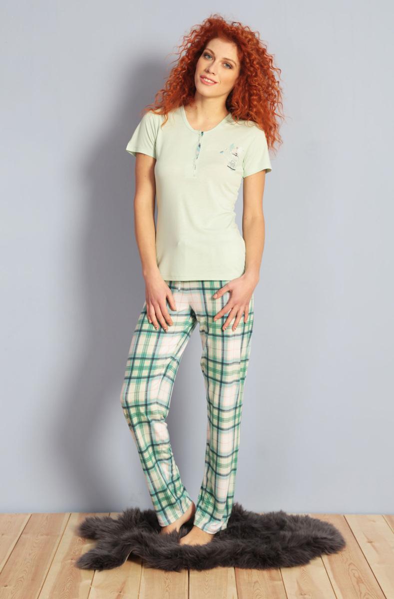 Домашний комплект жен Kezokino, цвет: зеленый. 609096 1170. Размер XL (50)609096 1170
