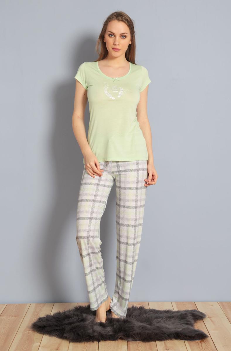 Домашний комплект жен Kezokino, цвет: зеленый. 610170 1251. Размер XL (50)610170 1251