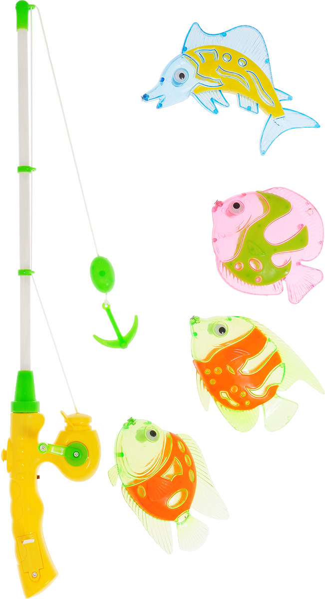 Играем вместе Игрушка для ванной Рыбалка Маша и Медведь цвет удочки серый желтый зеленый