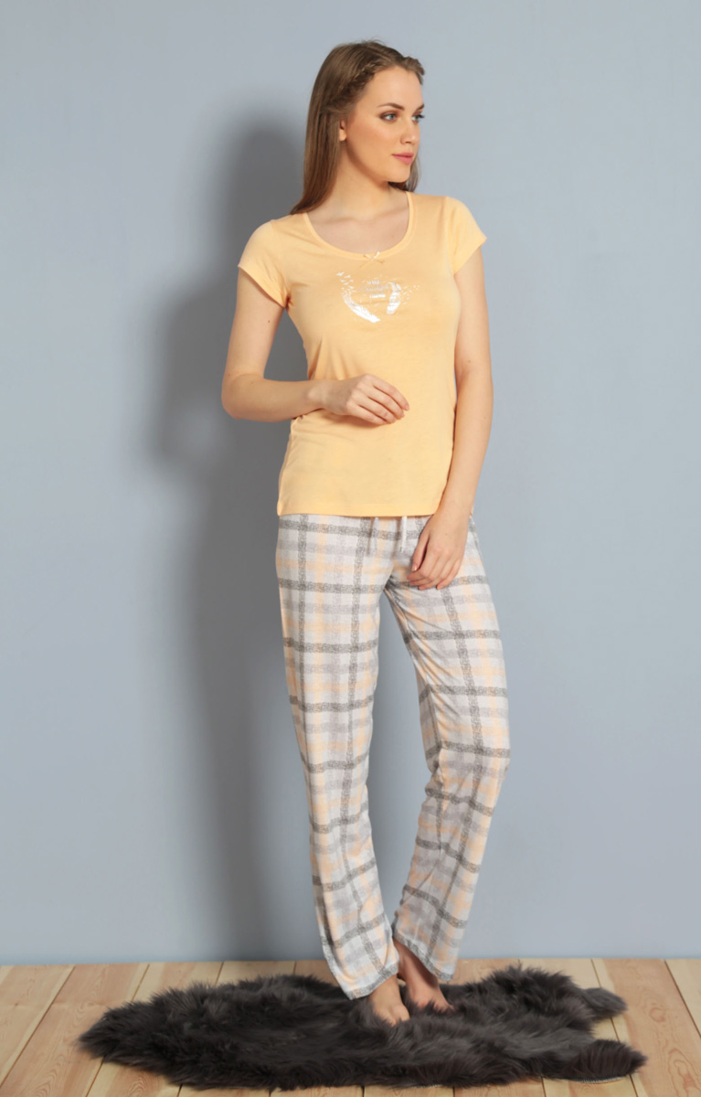 Домашний комплект жен Kezokino, цвет: персиковый. 610170 1251. Размер XL (50)610170 1251