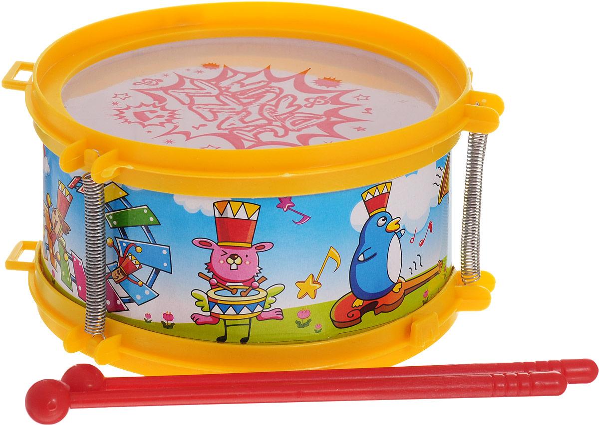 Ami&Co Музыкальный инструмент Барабан цвет желтый аксессуары veld co набор переводных татуировок черепа