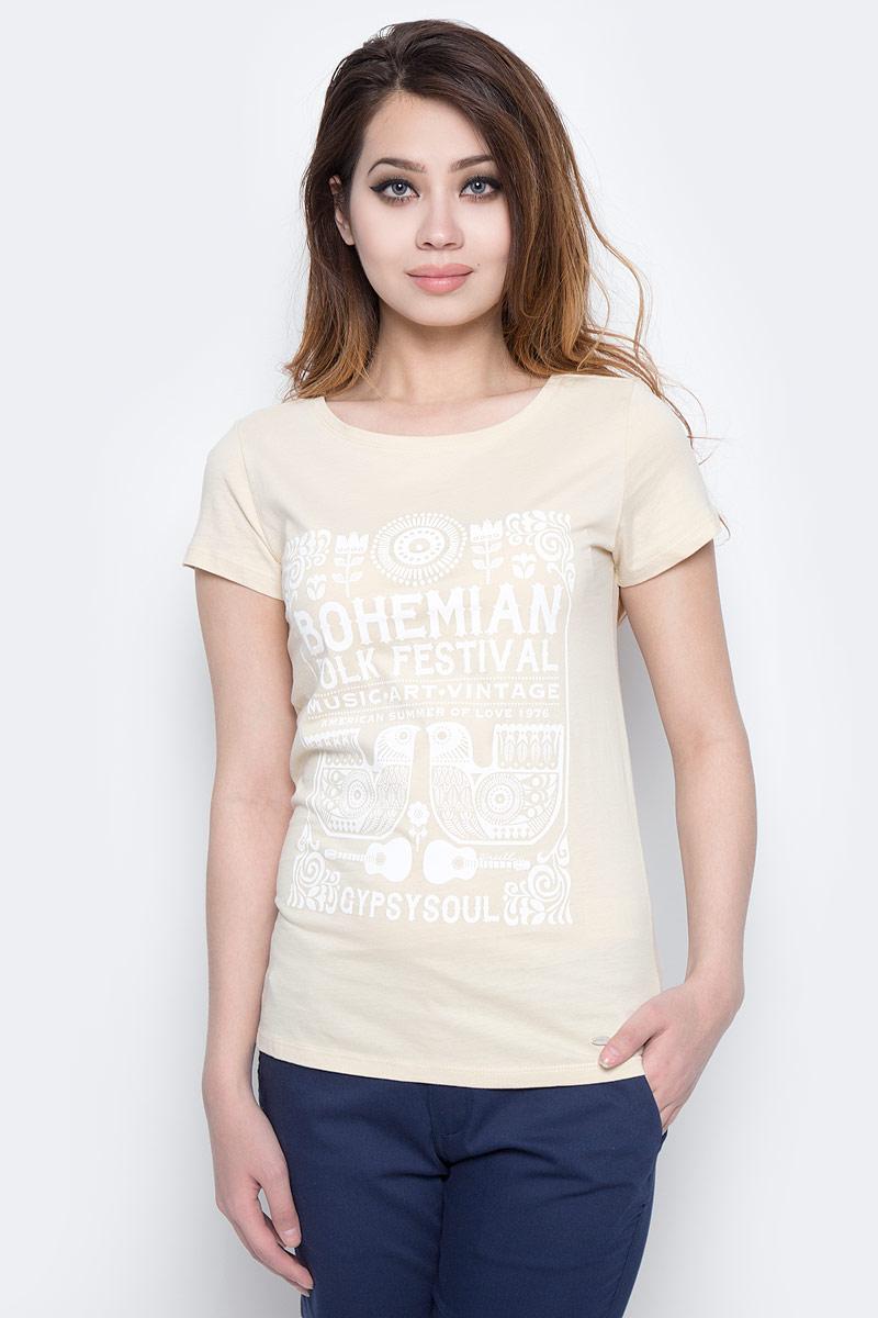 Футболка женская O'Neill Lw Boho Festival T-Shirt, цвет: кремовый. 7A7330-1082. Размер M (46/48) рубашка женская kepler shirt w цвет зеленый 1401723 7734 размер m 46 48