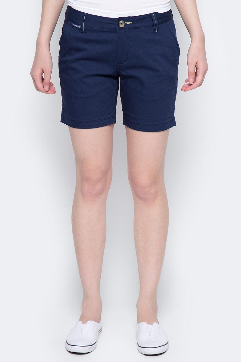 Шорты женские Columbia Harborside Short, цвет: темно-синий. 1709531-464. Размер 4 (44)