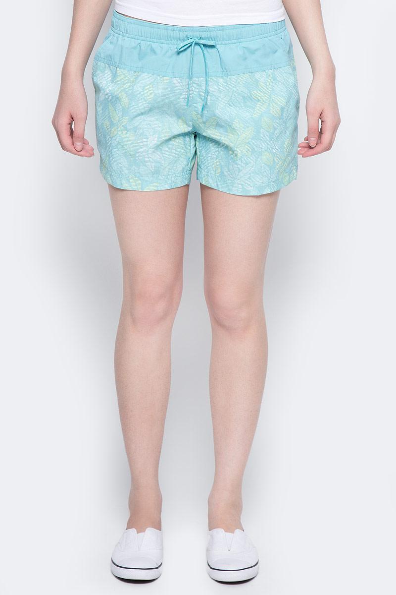 Шорты пляжные женские Columbia Sandy River Printed Short, цвет: светло-бирюзовый. 1712001-341. Размер XS (42) columbia шорты женские columbia harborside