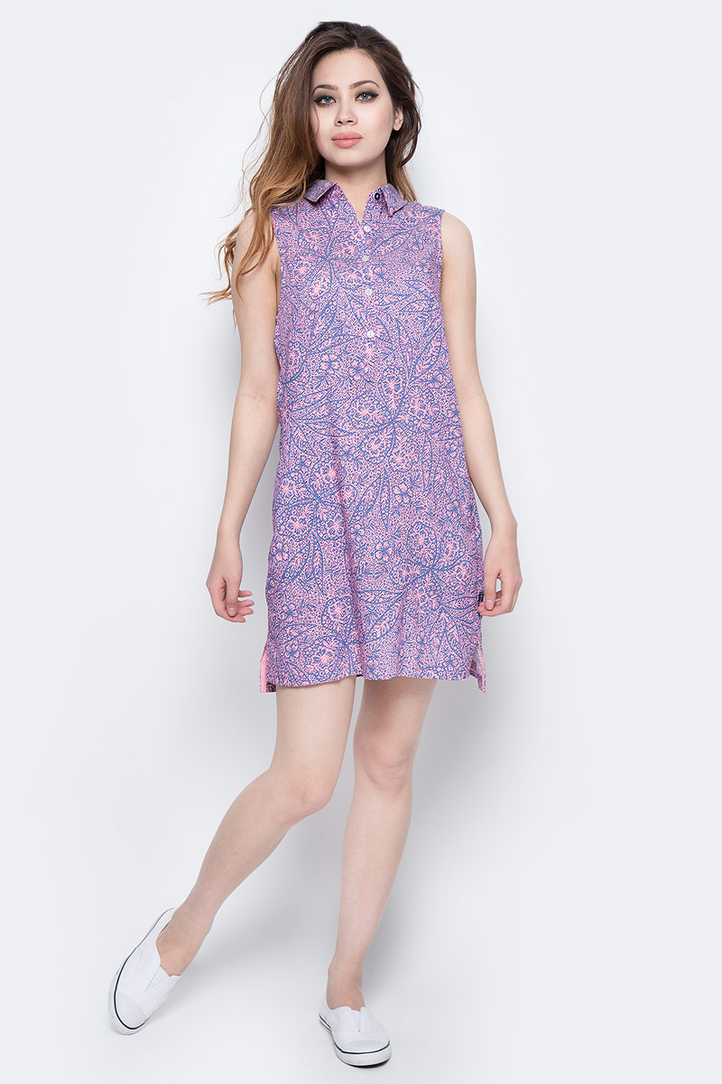 Платье Columbia Harborside Woven Sleeveless Dress, цвет: синий, розовый. 1709571-485. Размер M (46) bela 10429 scooby doo mystery plane adventures 75901 building blocks bricks toys for children compatible with lego lepin