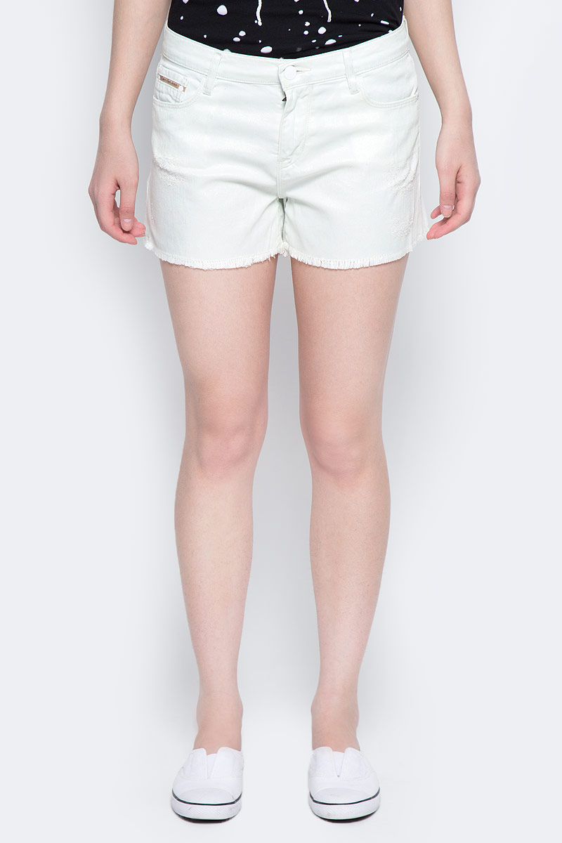 Шорты женские Calvin Klein Jeans, цвет: белый. J20J205178_9040. Размер 28 (42/44) шорты женские calvin klein jeans цвет светло голубой j20j204963 размер 26 38 40