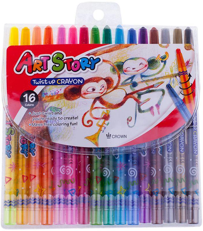 Crown Карандаши восковые 16 цветов пифагор восковые карандаши 24 цвета