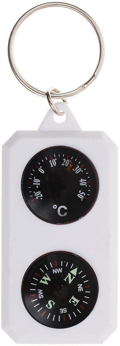 Компас-брелок Sol, с термометром. SLA-003SLA-003Компас-брелок Sol очень компактен и имеет удобное металлическое кольцо для переноски. Корпус выполнен из пластика, обозначения сторон света зеленого цвета. Компас также снабжен термометром. Такой компас будет полезен каждому путешественнику, его можно прикрепить к рюкзаку или ключам.