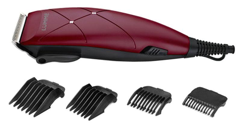 Lumme LU-2508, Burgundy Granate машинка для стрижкиLU-250815-ваттная машинка для стрижки волос Lumme LU-2508 предназначена для создания превосходной стрижки в домашних условиях.Режущие лезвия из высококачественной нержавеющей стали надолго останутся острыми, а эргономичный корпусмашинки обеспечит максимальное удобство при ее использовании.