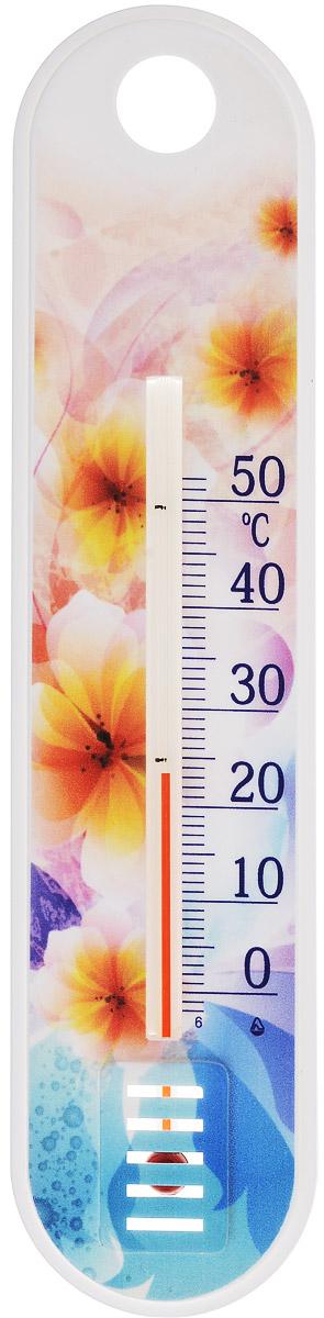 Термометр комнатный Стеклоприбор Желто-розовые цветы. П-1300185_желто-розовые цветыТермометр комнатный Стеклоприбор применяется для измерения температуры воздуха в помещении. Термометр выполнен из пластика с оригинальным рисунком, а колба изготовлена из ударопрочного стекла. Термометр оснащен широкой, подробной и наглядной шкалой. Изделие имеет широкий рабочий диапазон - от 0 до +50°С со шкалой деления в 10°С. Цена деления составляет 1°С. Изделие имеет специальное отверстие для крепления. Не содержит ртути. Для хорошего самочувствия и здоровья идеальный микроклимат в доме создаст температура +18…+24°С.