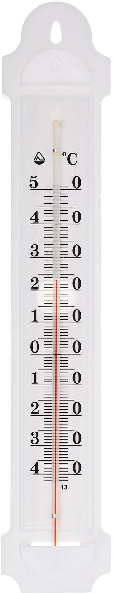 Термометр наружный Стеклоприбор. ТБН-3-М2 исп.1300173Термометр наружный Стеклоприбор применяется для измерения температуры воздуха на улице. Корпус термометра выполнен из пластика, а колба изготовлена из ударопрочного стекла. Термометр оснащен широкой, подробной и наглядной шкалой. Изделие имеет широкий рабочий диапазон - от -40 до +50°С со шкалой деления в 10°С. Цена деления составляет 1°С.Изделие имеет специальное отверстие для крепления. Не содержит ртути. Термометр желательно устанавливать в местах, защищенных от прямых солнечных лучей.