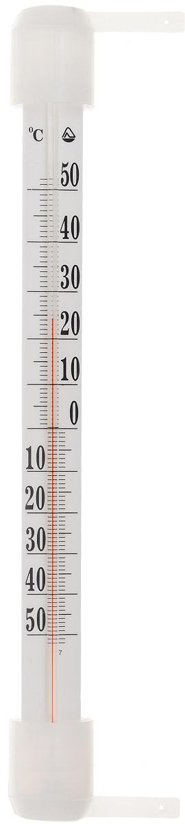 Термометр оконный Стеклоприбор. ТБ-3М1 исп.5300162Термометр оконный Стеклоприбор применяется для измерения температуры воздуха на улице. Колба изготовлена из ударопрочного стекла, а шкала выполнена из полистирола. Термометр оснащен подробной и наглядной шкалой. Изделие имеет широкий рабочий диапазон - от -50 до +50°С с ценой деления 1°С. Благодаря такой шкале термометр отлично подходит для применения в России, Украине, Белоруссии и других странах с умеренным климатом. Не содержит ртути. Изделие крепится с помощью гвоздей на деревянную раму. Термометр всегда точно покажет, какая же температура на улице. С ним погода не преподнесет вам неприятных сюрпризов.