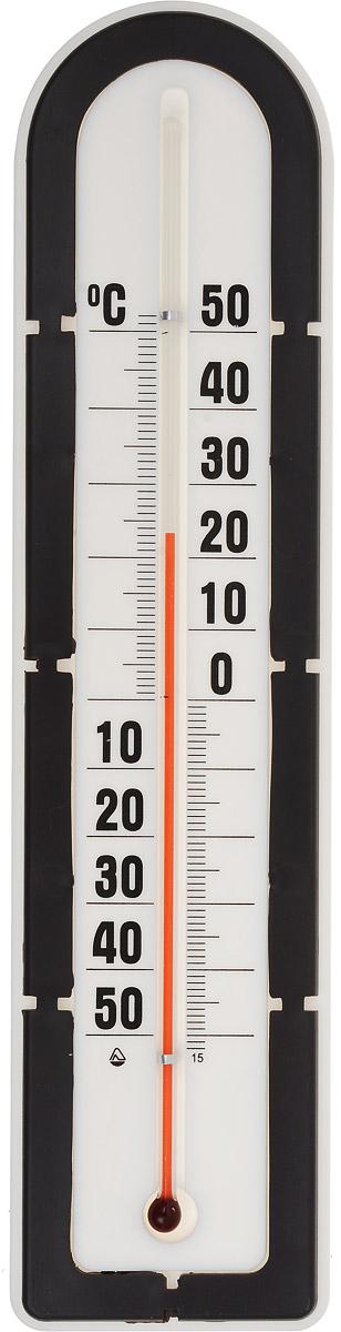 Термометр наружный Стеклоприбор, цвет: белый, черный. ТБН-3-М2 исп.5300180_черныйТермометр наружный Стеклоприбор применяется для измерения температуры воздуха на улице. Корпус термометра выполнен из пластика, а колба изготовлена из ударопрочного стекла. Термометр оснащен широкой, подробной и наглядной шкалой. Изделие имеет широкий рабочий диапазон - от -50 до +50°С со шкалой деления в 10°С. Цена деления составляет 1°С. Изделие имеет специальное отверстие для крепления. Не содержит ртути. Термометр желательно устанавливать в местах, защищенных от прямых солнечных лучей.