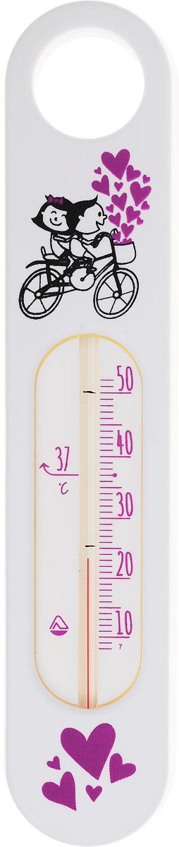 Термометр водный Стеклоприбор Велосипед. В-2300148_белыйВодный термометр Стеклоприбор используется для измерения температуры воды, чаще всего при купании детей. Корпус термометра выполнен из пластика и имеет прямоугольную форму с закругленными краями, а колба изготовлена из ударопрочного стекла. Модель имеет наглядную шкалу с ценой деления в 1°С и широкий диапазон температур - от +10 до +50°С. На термометре есть отметка 37°С - оптимальная температура купания ребенка. Яркий и интересный, такой термометр для воды будет не просто измерительным прибором, но и безопасной игрушкой во время купания для ваших детей. Не содержит ртути.