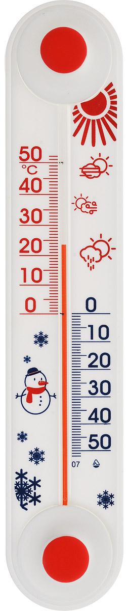 Термометр оконный Стеклоприбор. ТБ-3М1 исп.11300166Термометр оконный Стеклоприбор применяется для измерения температуры воздуха на улице. Корпус термометра выполнен из пластика, а колба изготовлена из ударопрочного стекла. Не содержит ртути. Это измеритель, у которого есть ряд очень важных для пользователя преимуществ: - Шкала, градуированная от -50 до +50°С, - такой диапазон позволяет зафиксировать любую возможную температуру для стран с умеренным климатом. - Наглядность - благодаря нанесенным крупным цифрам очень хорошо видно, сколько градусов показывает прибор. - Классическая простота эксплуатации - термометр нужно просто повесить за окном на липучку, прижав к стеклу. После можно будет подходить в любой момент и смотреть, какая температура на улице.Уважаемые клиенты!Обращаем ваше внимание на возможные изменения в дизайне рисунка на изделии. Поставка осуществляется в зависимости от наличия на складе.