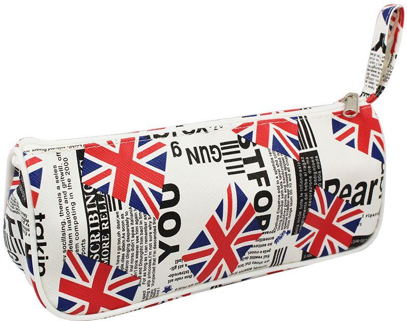 ArtSpace Пенал-косметичка Great Britain цвет белыйTn_11594Мягкий пенал-косметичка ArtSpace Great Britain станет незаменимым аксессуаром, как для школьников, так и для совсем маленьких деток. Модель треугольной формы отлично подойдет для хранения различных принадлежностей. В верхней части пенала расположена застежка-молния, которая не позволит содержимому потеряться, и небольшая петелька.