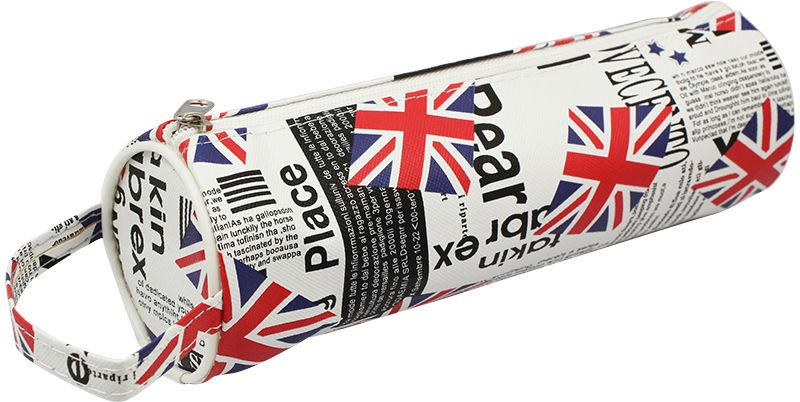 ArtSpace Пенал-тубус Great Britain цвет белыйTn_11579Мягкий пенал-тубус ArtSpace Great Britain выполнен из прочного полиэстера и дополнен ручкой.Пенал содержит одно отделение для канцелярских принадлежностей и закрывается на надежную застежку-молнию.Пенал послужит отличным помощником во время занятий и позволит сохранить порядок на рабочем столе.