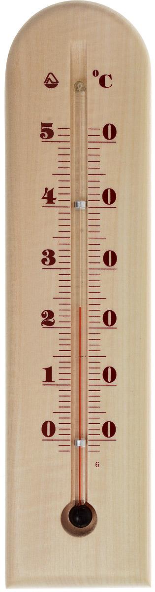"""Термометр комнатный """"Стеклоприбор"""" применяется для измерения температуры воздуха в помещении. Термометр выполнен из дерева, а колба изготовлена из ударопрочного стекла. Термометр оснащен широкой, подробной и наглядной шкалой. Изделие имеет широкий рабочий диапазон - от 0 до +50°С со шкалой деления в 10°С. Цена деления составляет 1°С.  Изделие имеет специальное отверстие для крепления. Не содержит ртути.  Для хорошего самочувствия и здоровья идеальный микроклимат в доме создаст температура +18…+24°С."""