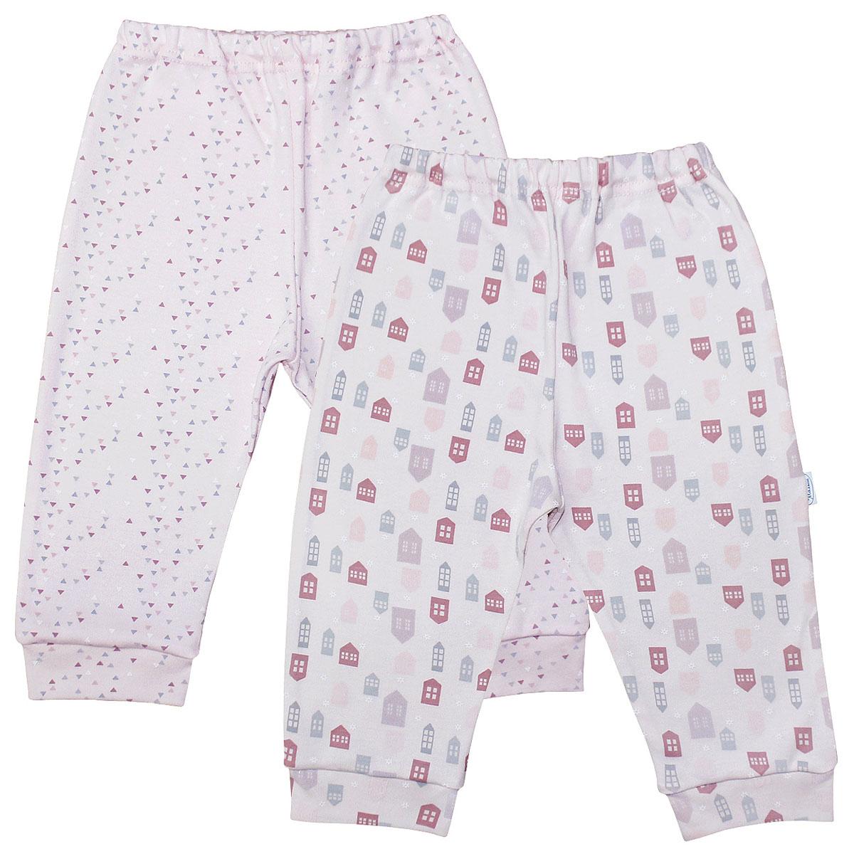 Штанишки для девочки Веселый малыш One, цвет: розовый. 33150/One-D (1). Размер 74 брюки джинсы и штанишки веселый малыш штанишки мото