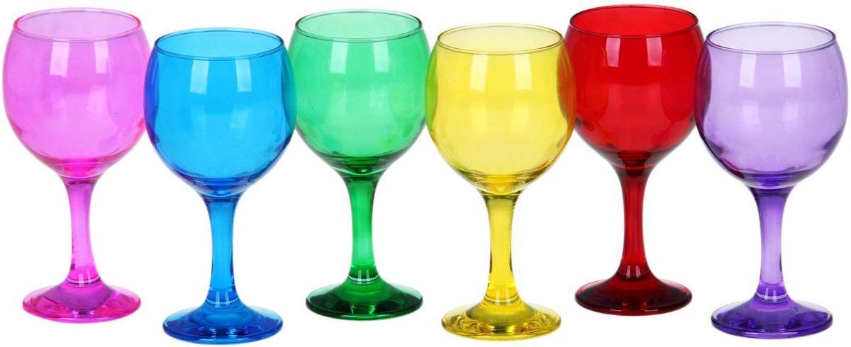 Набор фужеров для вина Хрустальный звон Бистро, 290 мл, 6 шт. 11936921193692Необходимый для любой хозяйки предмет, который сочетает в себе отличное качество и дизайн. Наша посуда станет преданным помощником на Вашей кухне. У нас Вы найдёте красивую посуду на любой притязательный вкус, необычайных форм и размеров, цветов и оттенков. Покупать у нас просто – Вы заказываете понравившуюся продукцию, а мы доставляем Вам её в любое место!