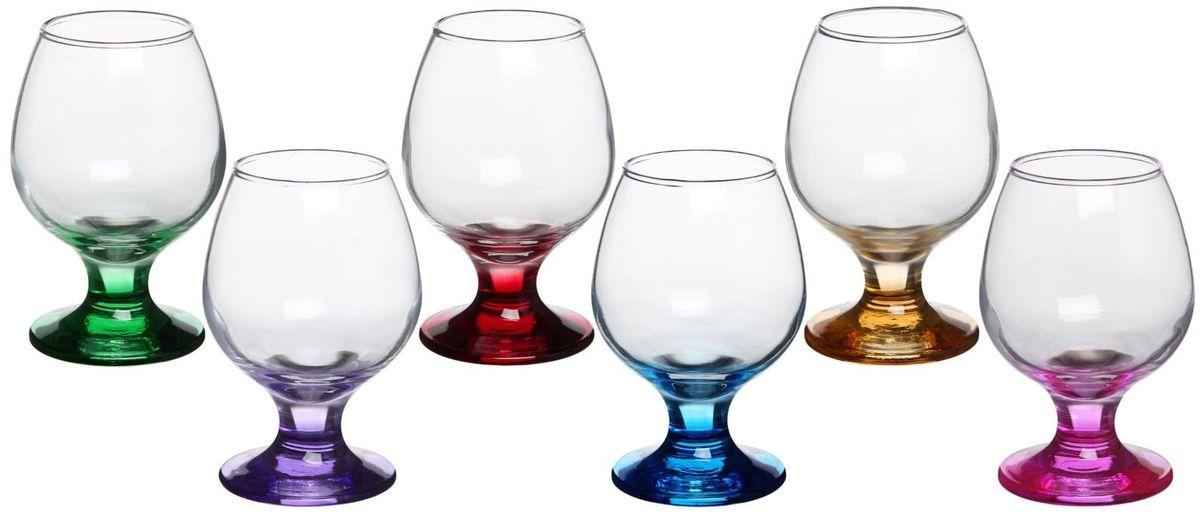 Набор бокалов для бренди Хрустальный звон Радуга, 250 мл, 6 шт1193694