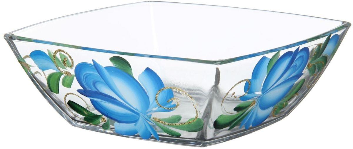 Салатник Хрустальный звон Токио. Цветы гжель, 550 мл. 11937081193708Салатник Хрустальный звон Токио. Цветы гжель изготовлен из бесцветного стекла и украшен художественной росписью на прозрачном стекле. Идеально подходит для сервировки стола. Салатник не только украсит ваш кухонный стол и подчеркнет прекрасный вкус хозяйки, но и станет отличным подарком.Размер: 16 х 16 х 6 см.