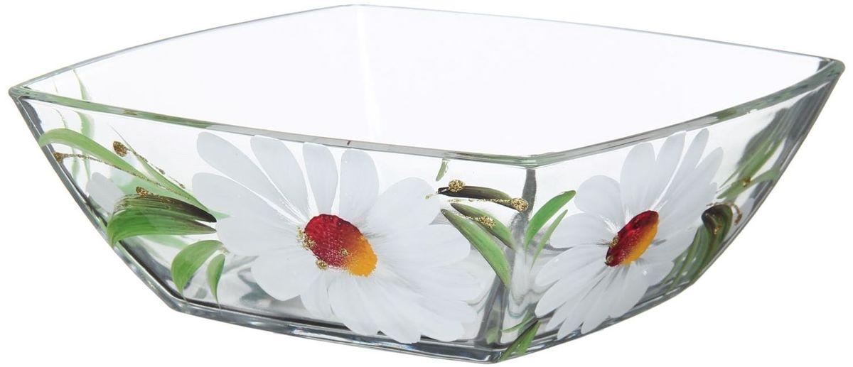 Салатник Хрустальный звон Токио, 550 мл. 11937091193709Салатник Токио изготовлен из бесцветного стекла и украшен художественной росписью на прозрачном стекле. Идеально подходит для сервировки стола.Салатник не только украсит ваш кухонный стол и подчеркнет прекрасный вкус хозяйки, но и станет отличным подарком.