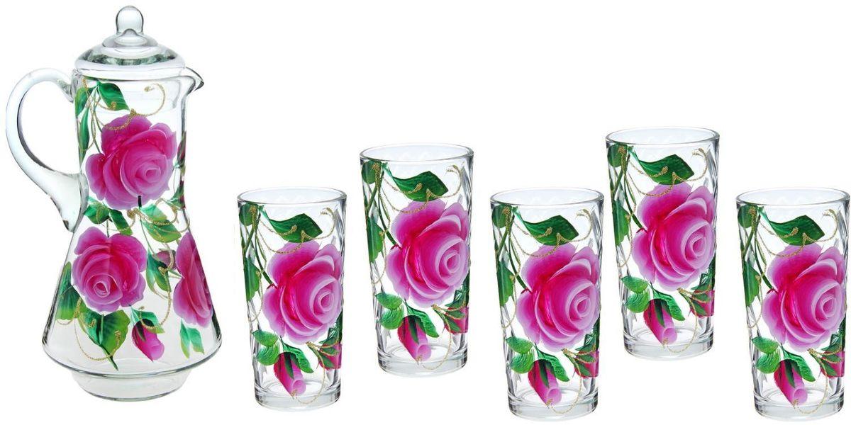 Набор Хрустальный звон Ода: кувшин, 1,2 л, стакан, 200 мл, 6 шт. 11937121193712Возможно ли сделать так, чтобы в доме всегда царила по-настоящему летняя атмосфера? Набор питьевой Хрустальный звон Ода, состоящий из кувшина и шести стаканов, поможет вам приблизиться к заветной мечте!Высококачественное прозрачное стекло, нежные оттенки и изящный рисунок преобразят окружающее пространство, а утолять жажду станет еще приятнее!Кроме того, стеклянная посуда обладает рядом практических достоинств: термостойкостью, экологичностью и прочностью. Именно этим объясняются преимущества предметов набора: -возможность обработки в СВЧ-печи, -пригодность к мойке в посудомоечной машине, -экологическая безопасность материала. Не рекомендуется: -помещать посуду на открытый огонь и в морозильную камеру, -допускать падение посуды с большой высоты. Набор станет украшением, как кухни, так и праздничного стола. Вы точно будете знать, в чем подавать компоты, морс или домашнее вино. Объем кувшина: 1,2 л.Объем стаканов: 200 мл.