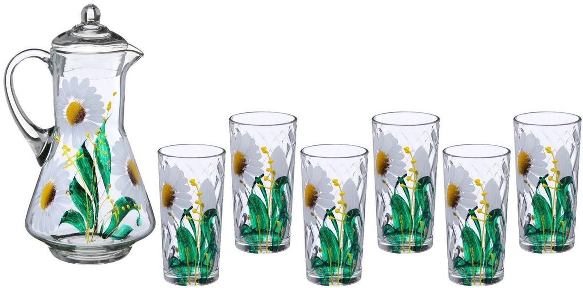 Набор Хрустальный звон: стакан Ода, 200 мл, 6 шт + кувшин, 1,2 л. 11937131193713