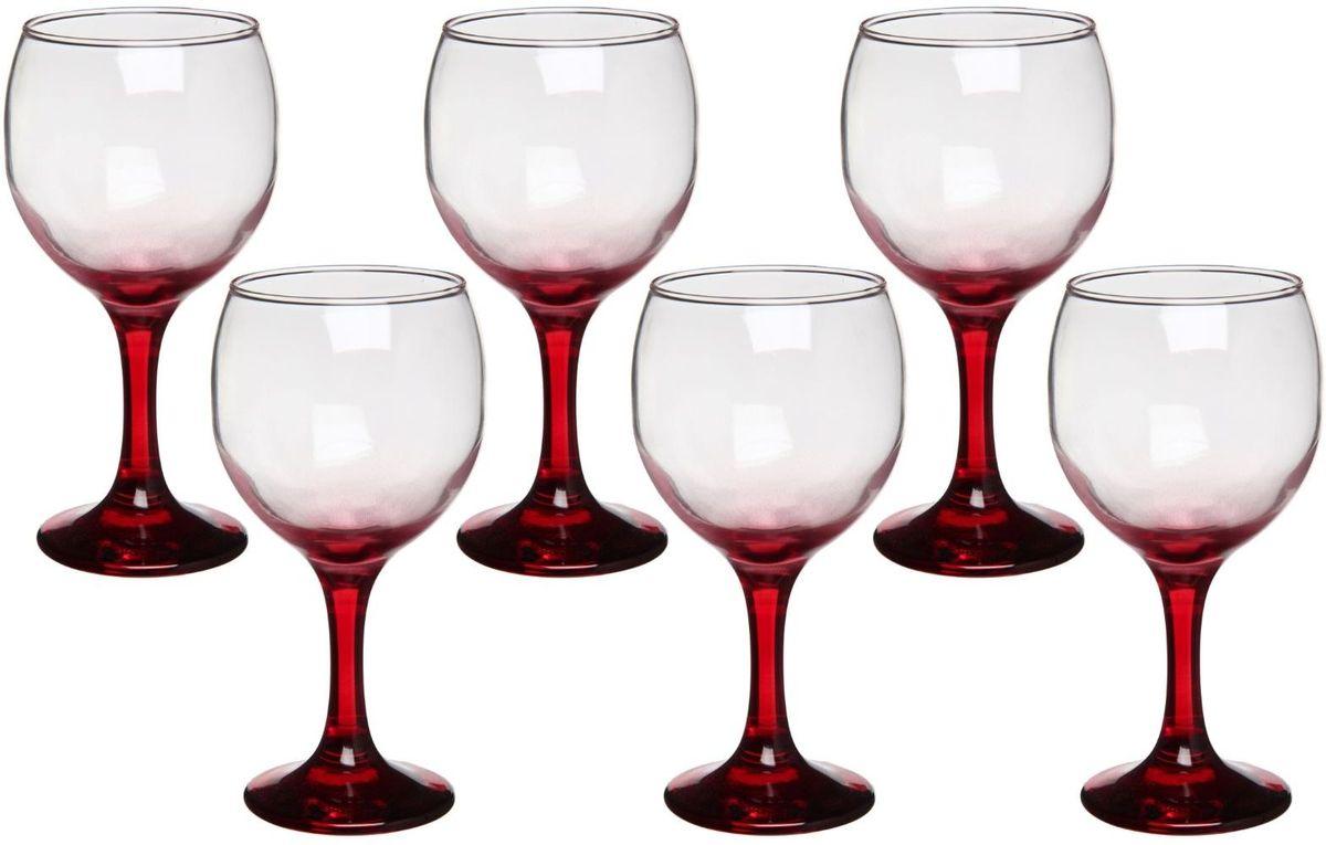 Набор бокалов Хрустальный звон, цвет: красный, 200 мл, 6 шт1193760Набор бокалов Хрустальный звон необходим для любой хозяйки, сочетает в себе отличное качество и дизайн. Бокалы выполнены из высококачественного стекла. Такой набор украсит любой кухонный интерьер и станет хорошим подарком для ваших близких.