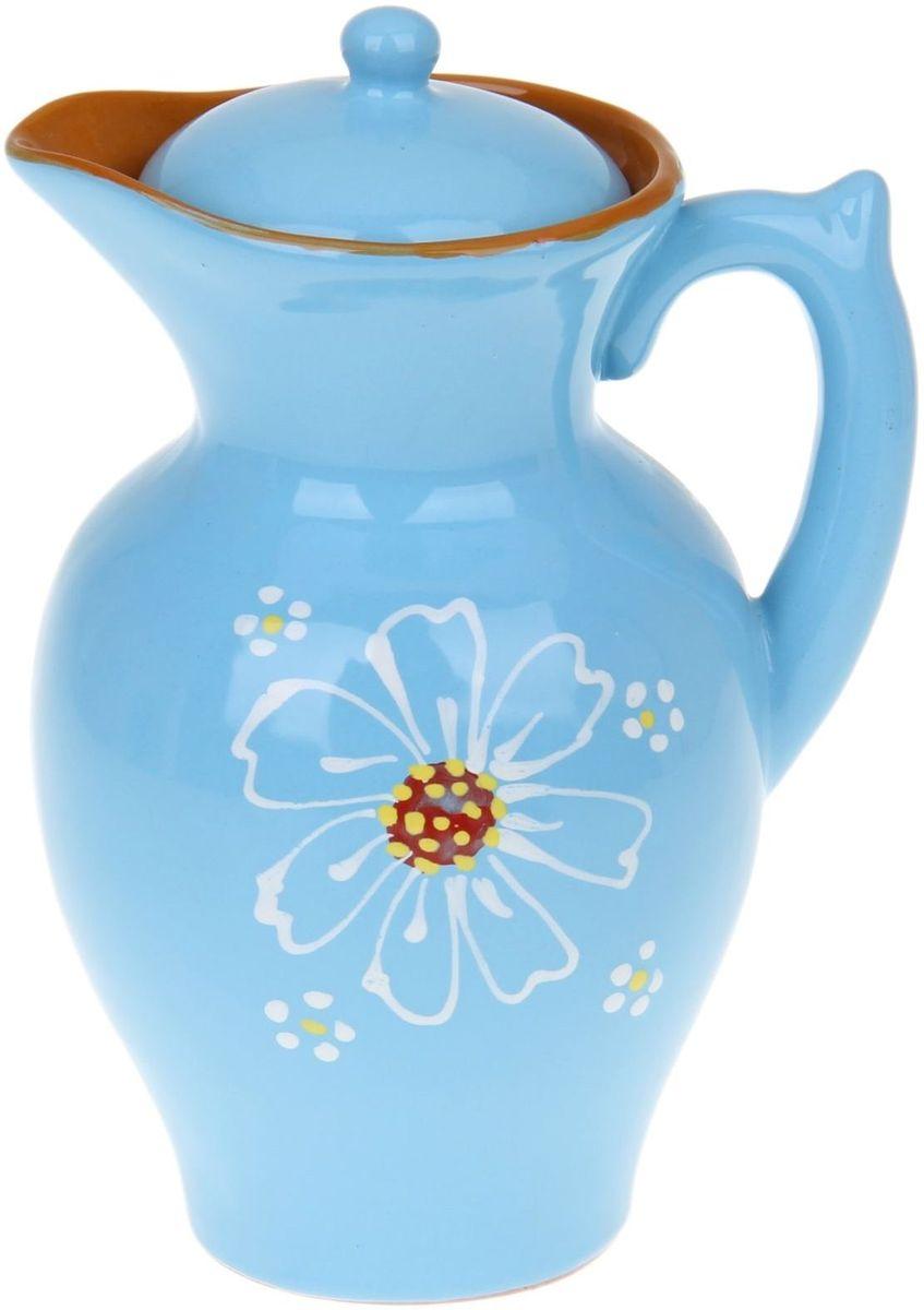 """Кувшин для напитков """"Дачный"""" станет удивительно полезным приобретением для вашего дома  или дачи. Керамика — тёплый, согревающий материал, придающий пище уникальные качества,  радующий своим внешним видом, экологичностью и эксплуатационными качествами. Слово  """"керамика"""" древнегреческое и переводится оно как глина.  Пористая красная глина обладает удивительными свойствами! Прохладный напиток не нагреется  даже на солнце, а горячие кофе или чай сохранят свою температуру в течение нескольких часов!  Молоко в такой посуде останется свежим в течение трех—четырех суток.  Приятным дополнением станет необычный дизайн изделий от """"Псковского гончара"""". Спокойные  цвета и изящные рисунки будут поднимать настроение и радовать вас при каждом использовании  кувшина """"Дачный""""."""
