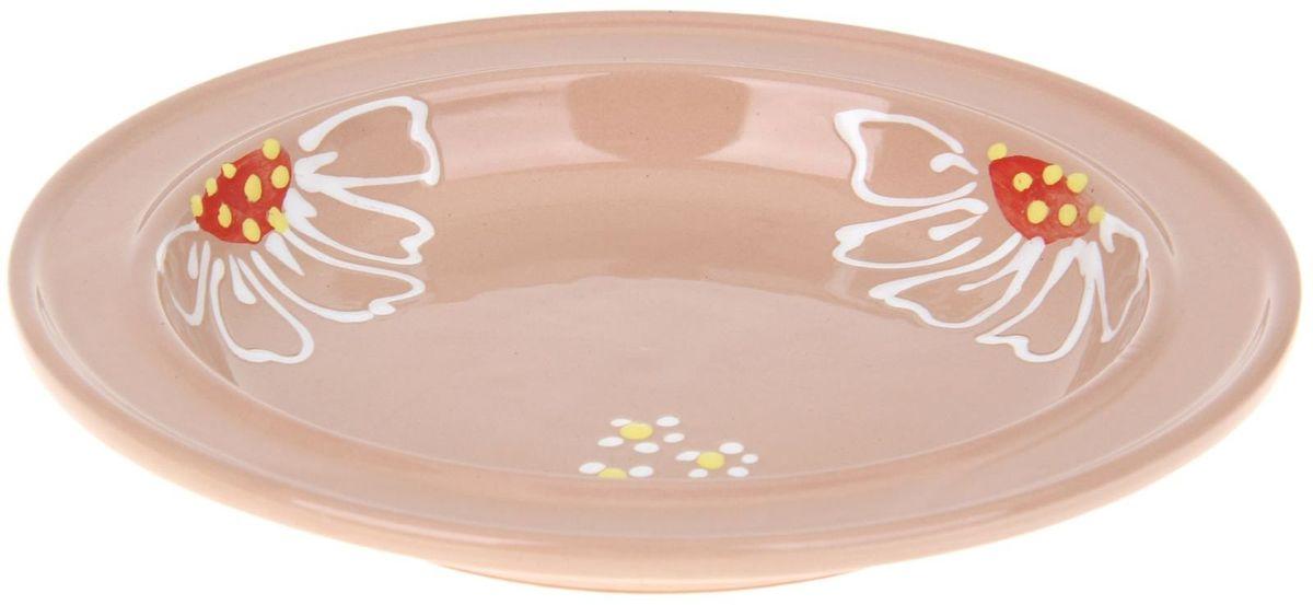 Тарелка Псковский гончар Орнамент, цвет: бежевый, диаметр 20 см1228248Из красивой посуды любое блюдо кажется вкусней! Специальная тарелка Псковский гончар превратит каждый прием пищи в праздник! Вы можете разложить закуски, использовать её под вторые блюда. Из такой посуды приятно кушать тортики. Но это еще не всё!Оригинальный материал - красная глина - позволит ставить миску в духовку, на аэрогриль и в СВЧ-печь. Специальный обжиг повышает прочность и долговечность изделия. Безопасная глазурь облегчит процесс мытья. Любой продукт, приготовленный в миске, приобретает эффект русской печи - особый вкус и аромат, с сохранением полезных витаминов и минералов. Блюда надолго сохранят свою температуру благодаря пористой структуре изделия.Лаконичная форма и яркая расцветка будут поднимать настроение и аппетит, притягивать взгляды и вызывать желание попробовать содержимое тарелки от Псковского гончара! Устойчивое донышко предотвращает возможность опрокидывания.Выбирайте качественные вещи, которые будут радовать вас долгие годы и создадут на вашем столе неповторимую атмосферу уюта и тепла!