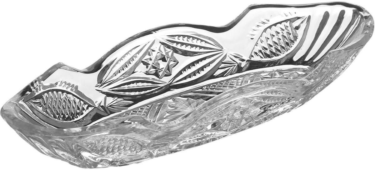 Блюдо для рыбы Бахметьевский завод, 27,5 х 10,5 см1425064Блюдо для рыбы Бахметьевский завод изготовлено из качественного Бахметьевского хрусталя. Блюдо оформлено оригинальным резным рисунком.Изделие будет долго радовать вас своим внешним видом и высоким качеством.