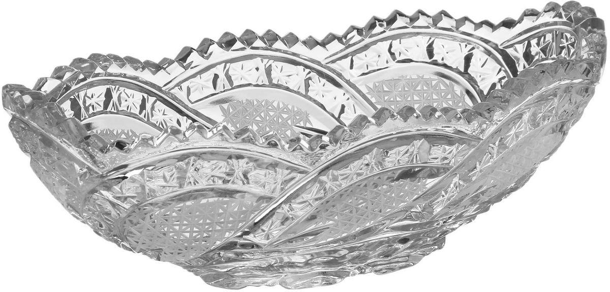 Салатник Бахметьевский завод, 12,5 х 25 см1425071Салатник Бахметьевский завод изготовлен из качественного Бахметьевского хрусталя. Салатник оформлен оригинальным резным рисунком.Изделие будет долго радовать вас своим внешним видом и высоким качеством.