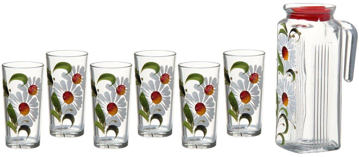 Набор Хрустальный звон: стакан Ода, 200 мл, 6 шт + кувшин, 1 л. 15568621556862