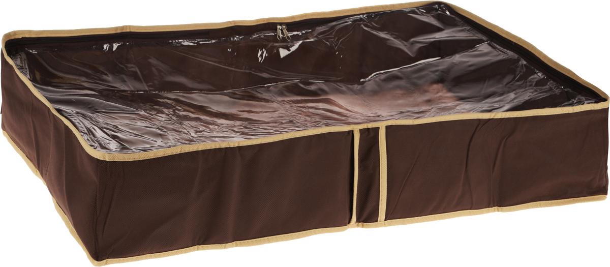 Чехол для одеял Все на местах Париж, цвет: темно-коричневый, бежевый, 80 х 45 х 15 см1002022.Чехол для одеял Minimalistic выполнен из сочетания ПВХ и спанбонда. Модель имеет две удобные вертикальные ручки. В стенки чехла вставлен уплотнитель, что позволяет ему держать форму. Подходит для хранения одеял, пледов, подушек и т.д.Материал: спанбонд, ПВХ.Размер: 80 х 45 х 15 см.