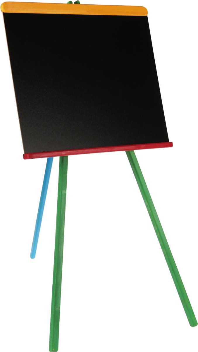 Baster Доска для рисования 47,5 х 87П-0315Доска для рисования на стойках Baster сделает занятия с ребенком энергичными, яркими и запоминающимися, ведь писать и рисовать на ней намного интереснее, чем в классической тетрадке.Доска выполнена из качественного материала. Размер доски: 47,5 х 87 см. Доска предназначена для многократного нанесения информации - достаточно стереть записи губкой, входящей в комплект. В комплект также входят четыре мелка оранжевого, синего, желтого и фиолетового цвета.