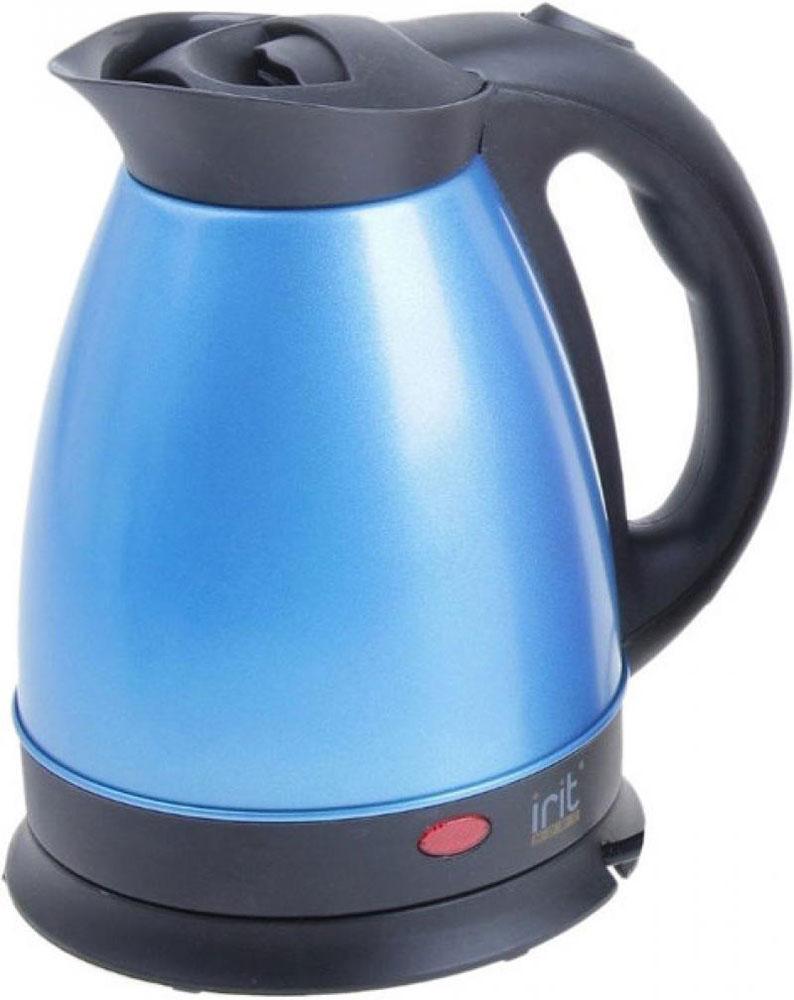 Irit IR-1326, Blue электрический чайник79 02094_синийЭлектрический чайник Irit IR-1326 прост в управлении и долговечен в использовании. Корпус изготовлен из высококачественных материалов. Мощность 1500 Вт быстро вскипятит 1,8 литра воды. Беспроводное соединение позволяет вращать чайник на подставке на 360°. Для обеспечения безопасности при повседневном использовании предусмотрены функция автовыключения, а также защита от включения при отсутствии воды.