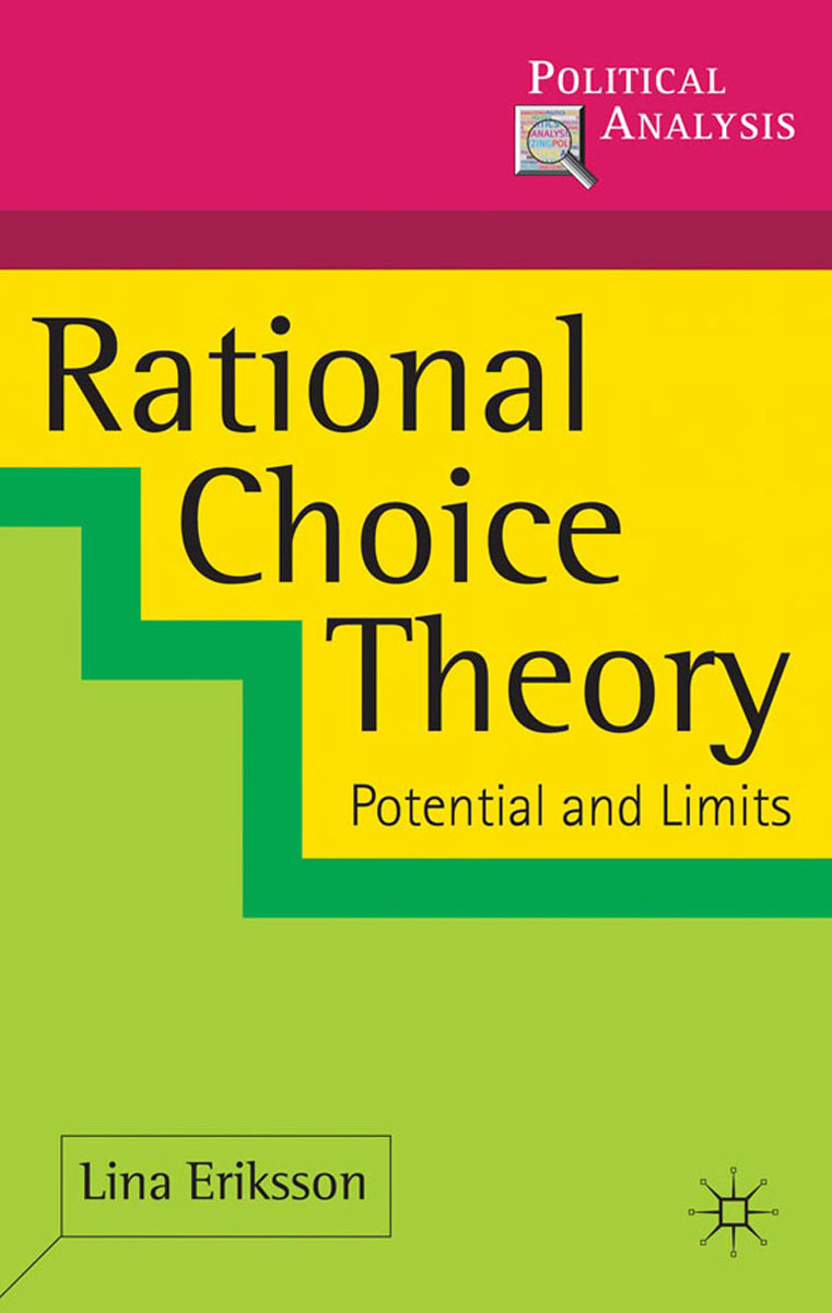 Rational Choice Theory simon p anderson discrete choice theory of product differentation