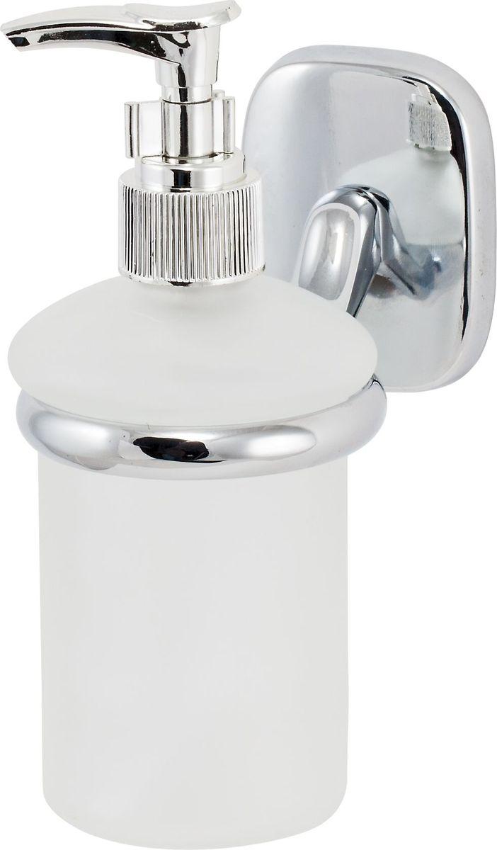 Дозатор для жидкого мыла Del Mare 1500, цвет: хром1510Дозатор для жидкого мыла Del Mare 1500 удобен для применения в ванных комнатах, уборных и на кухнях. Изделие оснащено крышкой с кнопкой, обеспечивающей дозированную выдачу мыла.
