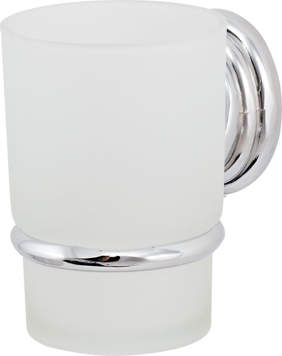 Держатель стакана Del Mare 3100, цвет: хром3103Держатель для зубных щеток и паст Del Mare 3100 - это настенный стаканчик из матового стекла, укрепленный на металлическом каркасе. Крепление поставляется в комплекте. Стеклянный подвесной стакан с возможностью размещения зубных щеток и пасты позволит организовать порядок в ванной комнате.
