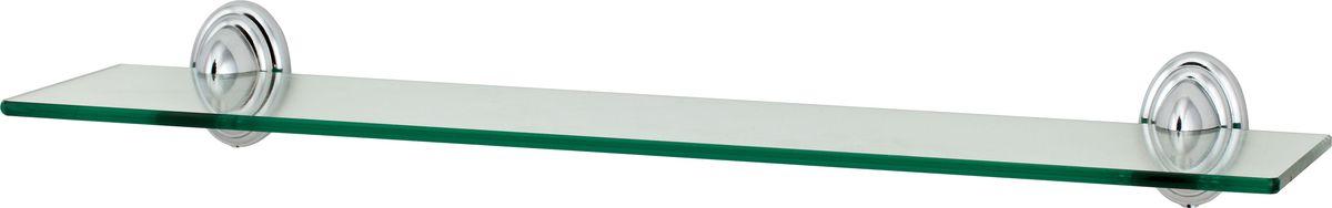 Полка для ванной Del Mare 3100, цвет: хром, прозрачный, 48 см3107Полка Del Mare 3100 произведена из стекла и безопасного, прочного и стойкого к коррозии металлического сплава, с многослойным никель-хромовым покрытием, стойким к истиранию. Внутренние элементы крепления после монтажа остаются скрытыми, сохраняя аккуратный и эстетичный вид изделия.Стеклянная полка - это удобная настенная подставка для хранения различной косметики, средств для умывания, мыльниц и других аксессуаров, что позволит организовать порядок в ванной комнате. Длина полки: 48 см. Ширина полки: 11,5 см.