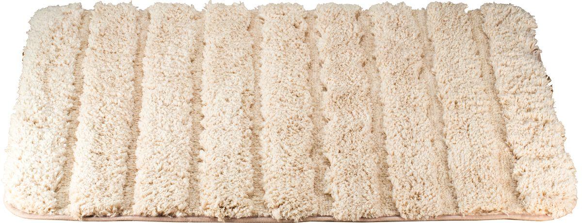 Коврик для ванной Swensa Molle, цвет: кремовый, 60 х 90 смSWM-2017-CREAMКоврик для ванной Swensa Molle предназначен для ванной комнаты. Мягкий и нежный ворс из микрофибры дарит приятные ощущения при прикосновении к коже. Материал нетребователен в уходе – его можно стирать с обычными моющими средствами. Ворс быстро высыхает при комнатной температуре, поэтому плесневые грибки и вредные микроорганизмы не развиваются на поверхности коврика. Микрофибра обладает антистатическими свойствами, не вызывает аллергии и не выделяет токсичные вещества.