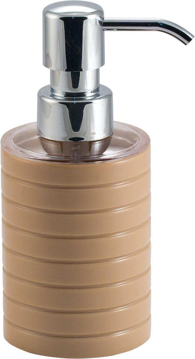 Дозатор для жидкого мыла Swensa Тренто, цвет: бежевый, 250 млSWP-0680BG-AДозатор для жидкого мыла Swensa Тренто станет незаменимым помощником для проведения ежедневных гигиенических процедур. Представленная модель изготовлена из пластика, прочного материала, который обезопасит изделие от любых нежелательных воздействий и повреждений. Стильный универсальный дизайн изделия позволит ему стать заметным и интересным акцентом в любом интерьере.