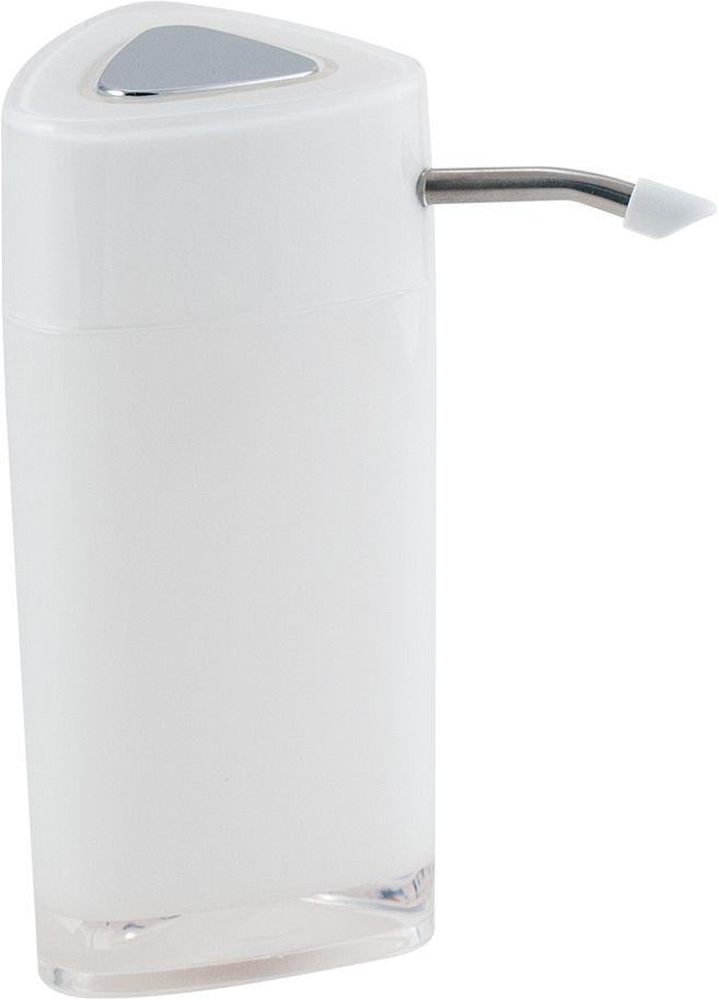 Дозатор для жидкого мыла Swensa Нео, с зеркалом, цвет: белый, 250 млSWP-0700WH-AДозатор для жидкого мыла Swensa Нео обеспечивает его экономный расход и упрощает процедуру умывания. Дизайн этого изделия выполнен с учетом модных тенденций оформительского искусства. Флакон дозатора имеет эргономичную форму, позволяя увеличить полезное пространство на полке в ванной или на кухонной мойке. Внешняя часть помпы изготовлена из металла, стойкого к окислению под воздействием моющих средств и воды. Конструкция помпы выдерживает многократные нагрузки.