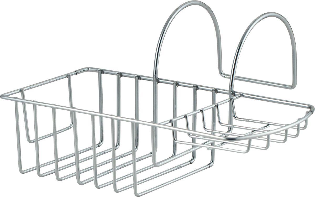 """Подвесная полка на ванну """"Swensa"""" изготовлена из высококачественной стали с применением хромо-никелиевого покрытия. Также полка покрыта каучуковым покрытием, за счет которого на ванной не остаются царапины."""