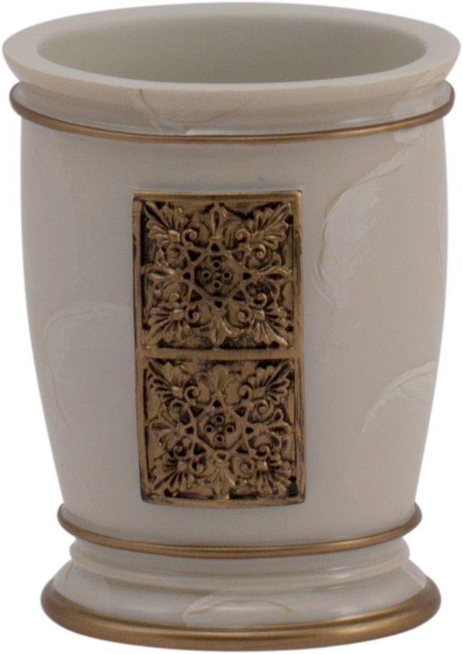 Стакан для ванной Swensa Синтра, цвет: слоновая костьSWT-4040CСтакан для ванной Swensa Синтра с рельефной контрастной отделкой — отличное решение для украшения интерьера любой ванной комнаты. Изделие выполнено из полирезина и отличается экологичностью, высокими прочностными характеристиками, химической стойкостью, продолжительным сроком эксплуатации. Этот декоративный аксессуар, предназначенный для хранения зубных щеток, удобен в использовании и не занимает много места.