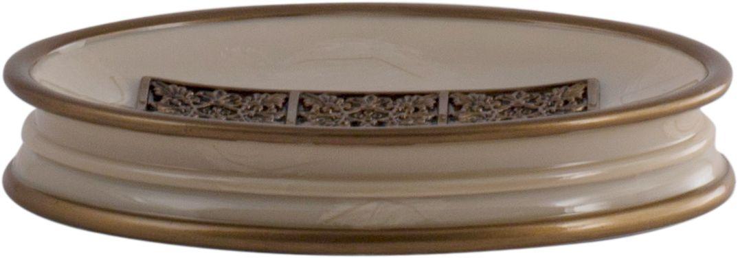 """Мыльница Swensa """"Синтра"""" — стильный аксессуар ванной комнаты, способный стать достойным украшением интерьера. Структура полирезина, из которого выполнено изделие, визуально напоминает мраморную поверхность. Этот необычный материал производится из каменной крошки и искусственной смолы, отличается прочностью и красивым блеском. Центральная часть внутренней поверхности мыльницы декорирована привлекательным контрастным мотивом."""