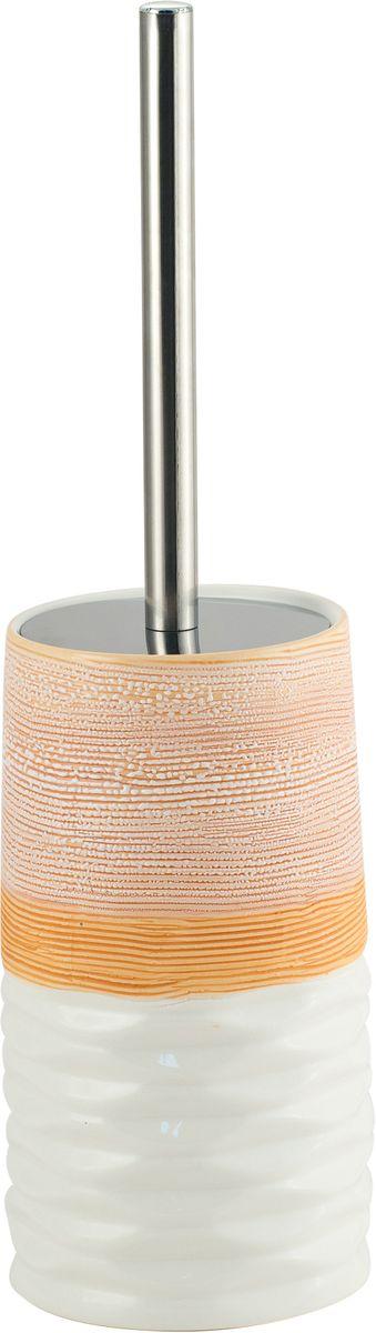 Ершик для унитаза Swensa Аттика, с подставкой, цвет: бежевый, белыйSWTK-2600EНапольный туалетный ершик Swensa Аттика - элегантный и удобный в использовании аксессуар для туалетной комнаты. Жесткая щетина эффективно удаляет загрязнения, легко очищается под струей воды, длинная ручка облегчает пользование изделием. Для хранения ерша предусмотрена стильная трехцветная керамическая подставка, которая эффектно дополнит как классический, так и современный дизайн санузла.