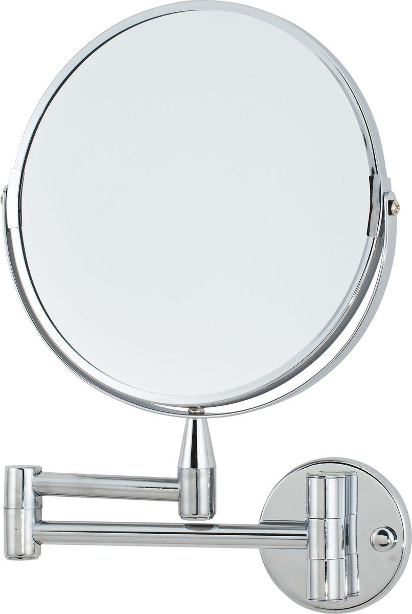 Зеркало косметическое Del Mare, настенное, цвет: хром, диаметр 20 смL08-8Косметическое зеркало Del Mare на кронштейне из хромированной стали — идеальное решение для нанесения макияжа и выполнения других косметических процедур. Возможность регулировки угла наклона позволяет разглядеть и вовремя исправить любые недочеты в макияже. Крепление к стене позволяет установить аксессуар в любом удобном для использования месте.